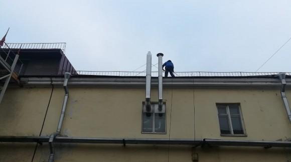 Реконструкция системы вентиляции в хостеле BookCase Hostel